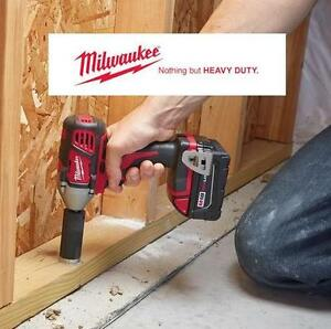 "NEW MILWAUKEE 1/2""IMPACT WRENCH KIT M18 - COMPACT - CORDLESS POWER TOOLS - CONSTRUCTION 104043412"