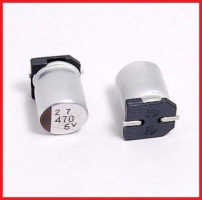 10pcs 470uf 6.3v Sanyo Smd Aluminum Electrolytic Capacitor 8x10mm 6.3v470uf
