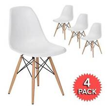 Scandinavian Replica Eames Dining Chairs White x 4 ($40 each) Waterloo Inner Sydney Preview