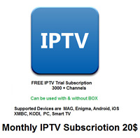 Monthly IPTV Subscription 3000+ Channels