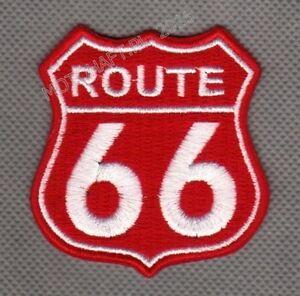 Route 66 toppa ricamata termoadesivo iron-on patch Aufnäher - <span itemprop='availableAtOrFrom'>Poznan, Polska</span> - Zwroty są przyjmowane - Poznan, Polska