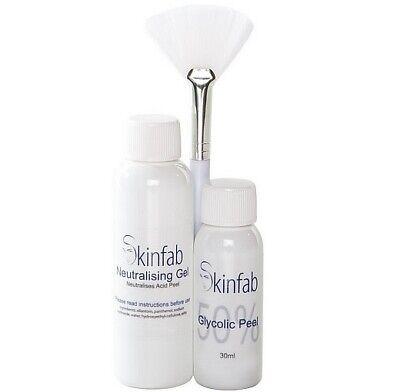 50% Ácido Glicólico Chemical Peeling Gel Neutralizador Aplicador Gratis Pincel