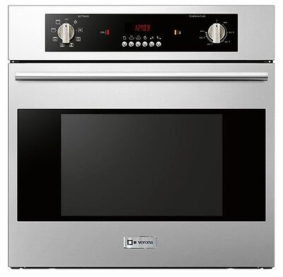 "Verona VEBIEM241SS 24"" Single Electric Wall Oven Built In Convection 110 Volt"