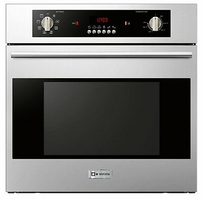 """Verona VEBIEM241SS 24"""" Single Electric Wall Oven Built In Convection 110 Volt"""