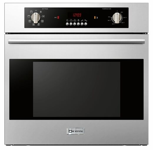 "Verona VEBIEM241SS 24"" Single Electric Wall Oven Built In Co"