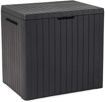 Keter City Outdoor Storage Box -Grey Small Garden Storage Box Solution