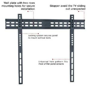 TC - 37-65in Ultra-Slim Low Profile TV Wall Mount - VESA 650mm x