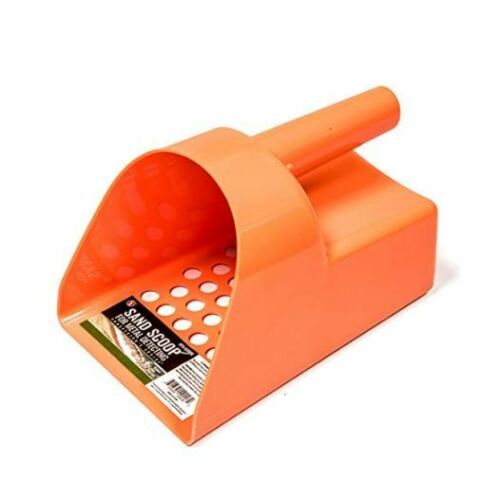 METAL DETECTOR SAND SCOOP - ORANGE  PLASTIC TREASURE SCOOP FOR DETECTING