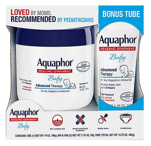 Aquaphor Advanced Therapy Baby Healing Ointment with Bonus,
