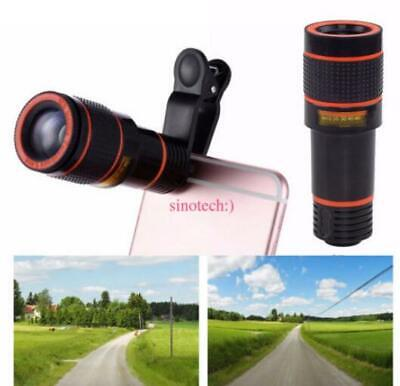 12X Optical Zoom Magnifier Telescope Camera Clip Lens For Phone Samsung iPhone