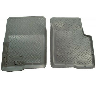 1980-1997 Ford F-350 Husky Classic Style Gray Front Floor Liner Free Shipping