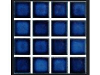 33 x Waxmans Ceramic (Pool) 23mm Sapphire CG-1451 Mosaic Sheet + odds. New over £4 per sheet