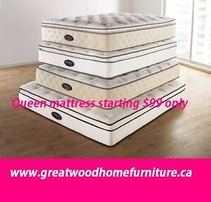 QUEEN SIZE MATTRESSES STARTING..$99