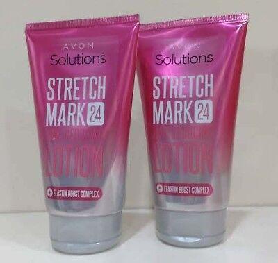 Stretch Mark Reducer (2 x AVON Solutions Stretch Mark 24 Line Reducing Lotion Stretch Mark Reducer)