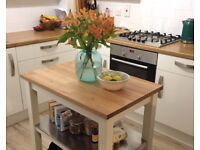 As New - oak kitchen island / trolley - price dropped for sale this week!