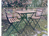 Table + 2 chairs outdoor