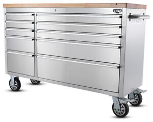 BRAND NEW! 55 INCH STAINLESS STEEL 10 DRAWER TOOL BENCH
