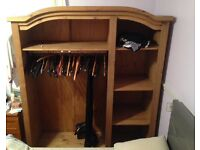 3 door pine wardrobe (collection only).