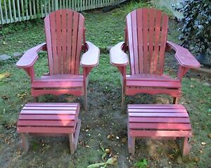 Pine Muskoka Chair and Footstool -- Assembled and Painted