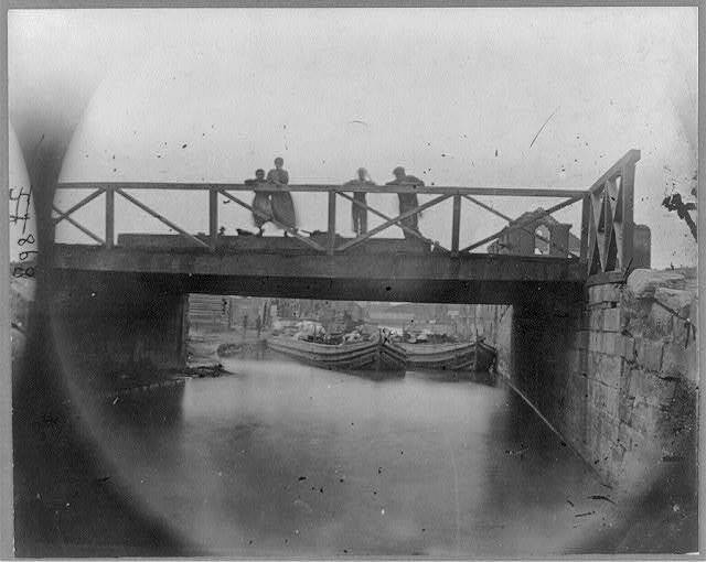 HP 8 X 10 1865 Photo View On Canal Bridge At Foot Of 7th Street - $16.95