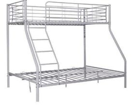 Silver double bunk bed in good condition