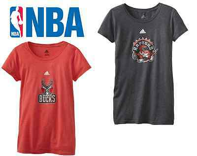 Adidas (Womens Ladies) NBA Center Team Logo T Shirt