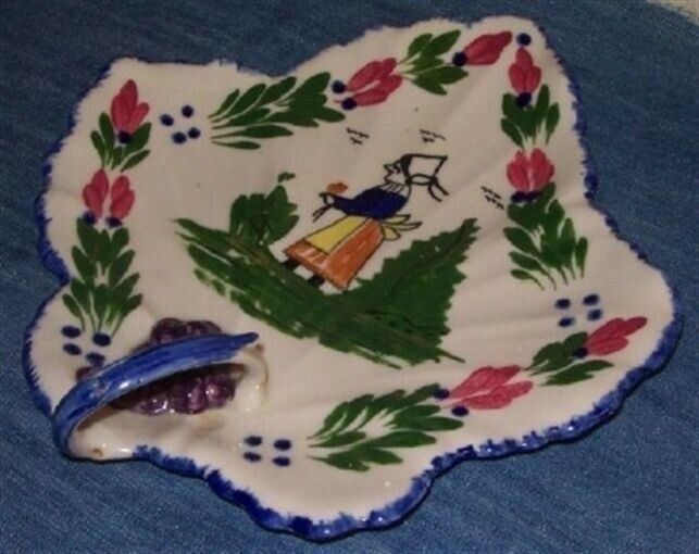 Blue Ridge FRENCH PEASANT Maple Leaf Handled Tray