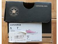 Size 5 Pink All Star Converse canvass shoes.