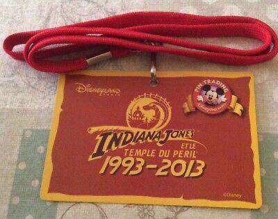 Disneyland Paris Pin Event Badge Indiana Jones Et Le Temple Du Peril 2013