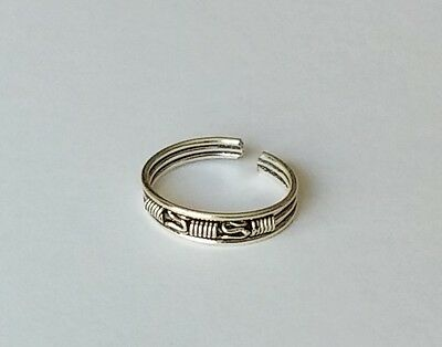 925 Sterling Silver Spring Adjustable Toe Ring New