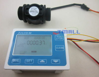 G1 Flow Water Sensor Meterdigital Lcd Display Quantitative Control 1-60lmin
