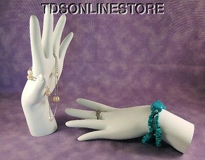 Polystyrene Hand Display For Rings And Bracelets White