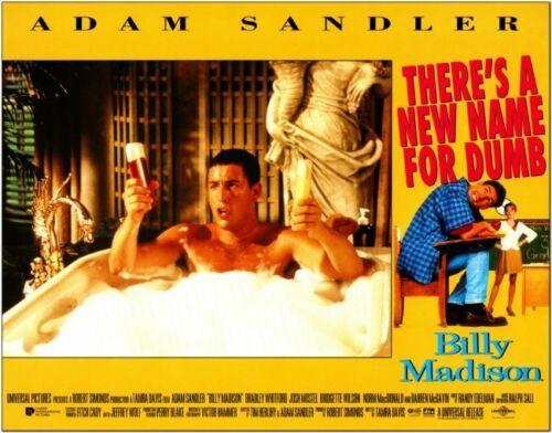 BILLY MADISON - 1994 - original 11x14 LOBBY CARD SET of 8 Cards - ADAM SANDLER