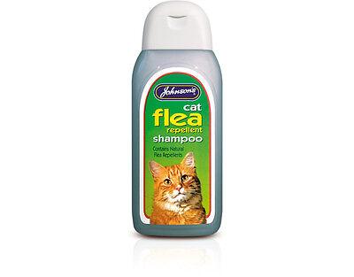 Johnsons Cat Flea Cleansing Shampoo 200ml