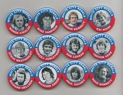 WHITE CITY REBELS  SPEEDWAY 1970's  EX-RIDERS MAGNETS X12  38mm IN SIZE