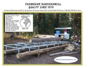 "BANDSAW MILL BAND SAW FARMHAWK STATIONARY MODEL 14 HP 24"" CAP Prince George British Columbia image 1"