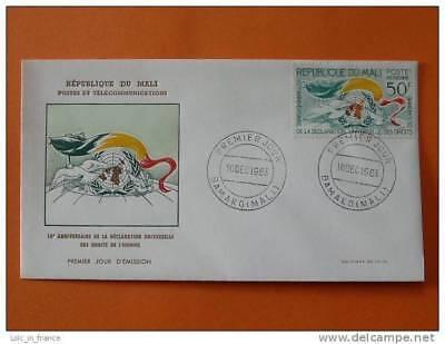 bird dove Universal Declaration of Human Rights FDC Mali 1963