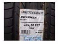 BRIDGESTONE POTENZA RE050 RFT - 225 50 R17 94W Run Flat BMW 5 - New