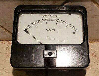 Vintage Simpson Direct Currant Model 29 Volts Meter-gauge-steampunk-panel Meter