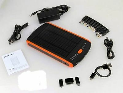 23000mAh Battery Laptop Charger Solar Power Bank 5V 12V 16V 19V / Phone Tablet