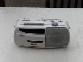 Hitachi TRK–05 Radio Cassette Player.