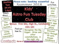 Kids Astronomy Fun Tuesday Club