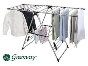 New Greenway Greenway XL Fold Away Laundry Rack  Model # GFR0501SS-D 2 Available  DI17