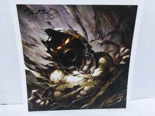 Disturbed Signed Asylum Rare Lithograph 12X12 AUTOGRAPH