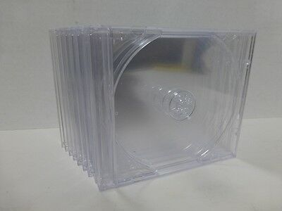 10 Jewel Cases 1cd - Dvd Case Clear Insert Original Usa