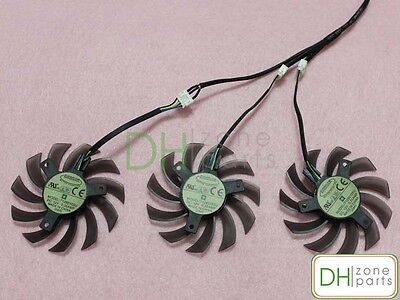 Купить 75mm 4-Pin GIGABYTE GTX 760 770 780 780Ti Windforce Triple Fan Replaced 40mm