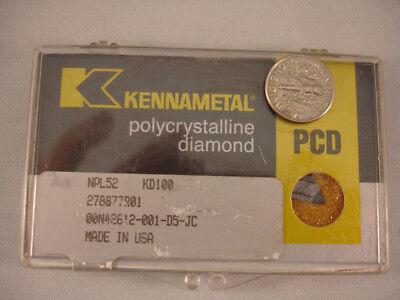 Npl 52 Kd100 Kennametal Diamond Pcd Inserts 1pcs 138