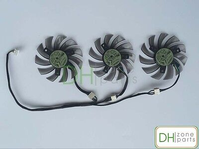 Купить 75mm 4-Pin GIGABYTE GTX 670 680 760 770 HD7950 HD7970 Triple Fan Replaced 40mm