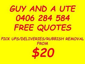 GUY WITH A UTE FROM $20 DELIVERIES/RUBBISH REMOVAL Brisbane City Brisbane North West Preview