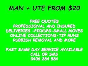 MATE WITH A UTE FROM $20! PICK UPS AND RUBBISH REMOVAL 7 DAYS INC Brisbane City Brisbane North West Preview